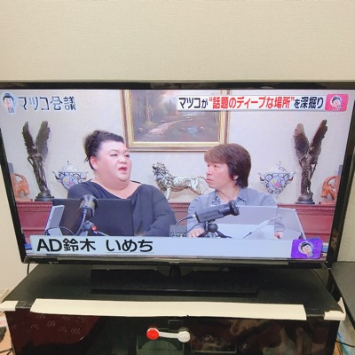 テレビの保護パネル取り付け前の写真